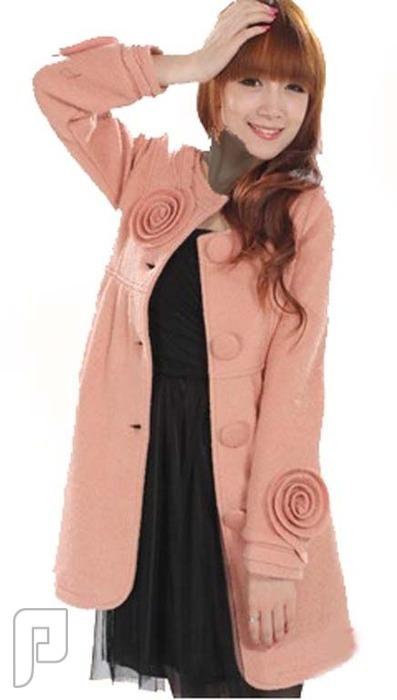 مجموعه متميزة من الملابس النسائية الاعلان الثانى 4- Noble Style Single-breasted Round Collar Coat Pink