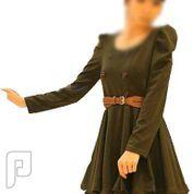 مجموعه متميزة من الملابس النسائية الاعلان الثانى 9- فستان نسائي من القطن مقاسه إسمول معه حزام وسط كما بالصورة