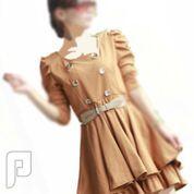 مجموعه متميزة من الملابس النسائية الاعلان الثانى 11- فستان نسائي مقاس إسمول مصنوع من القطن مع حزام وسط.