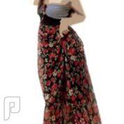 مجموعه متميزة من الملابس النسائية الاعلان الثانى 12- فستان طويل للسهرات مصنوع من القطن