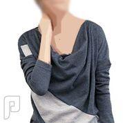 مجموعه متميزة من الملابس النسائية الاعلان الثانى 20- بلوزة رمادية مصنوعة من القطن مقاس إسمول