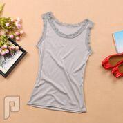 مجموعه متميزة من الملابس النسائية الاعلان الثانى 30- بلوزة نسائية بدون أكمام رمادية اللون مقاس واحد