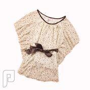 مجموعه متميزة من الملابس النسائية الاعلان الثالث 2- بلوزة نبلوزة نسائية مقاس واحد تحتوي على حزام وسط ذو لون بني مقاس واحد