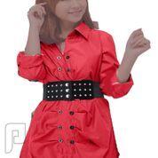 مجموعه متميزة من الملابس النسائية الاعلان الثالث 6- فستان نسائي أحمر اللون بأكمام طويلة مقاس S