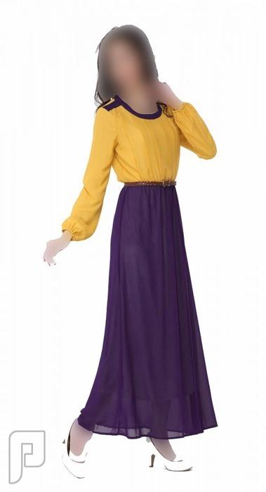 مجموعه متميزة من الملابس النسائية الاعلان الثالث 12- فستان نسائي طويل محتشم مقاس واحد مصنوع من الشيفون
