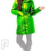 مجموعه متميزة من الملابس النسائية الاعلان الثالث 17- معطف نسائي للمطر , أخضر اللون , المقاس XL