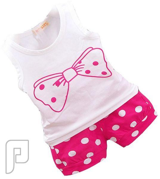 بدل للأطفال مكونة من قطعتين بأشكال مختلفه بدلة أطفال بناتى من قطعتين