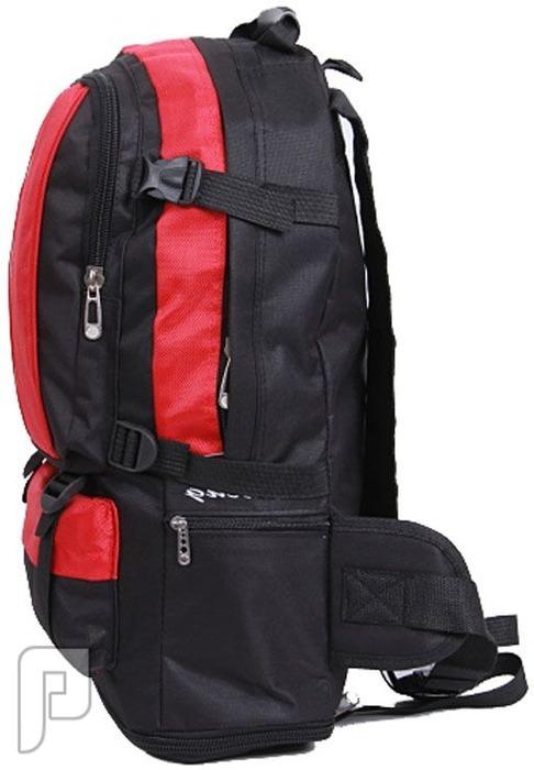 مجموعه من الحقائب والشنط تصلح للرحلات والمدارس حقيبة (شنطة) مدرسية قابلة للتوسع من 35 لتر إلى 50 لتر حمراء اللون