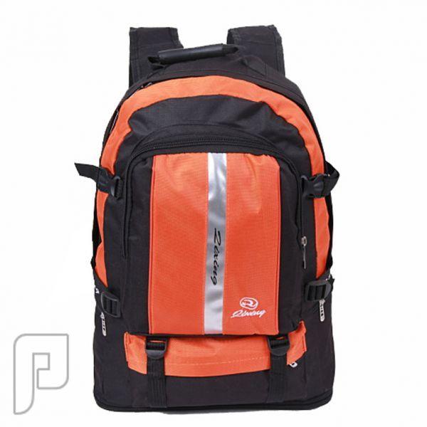 مجموعه من الحقائب والشنط تصلح للرحلات والمدارس حقيبة (شنطة) مدرسية قابلة للتوسع من 35 لتر إلى 50 لتر ذات لون برتقالي