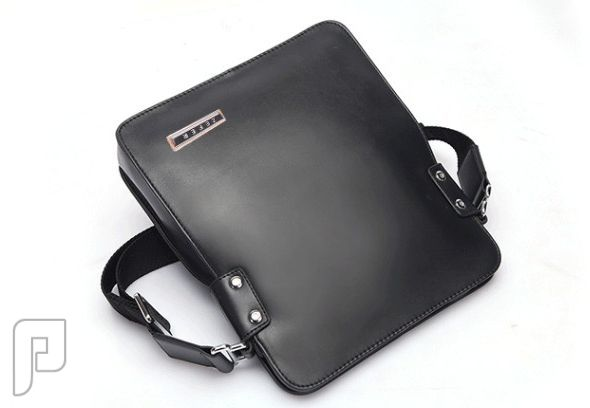 مجموعه من الحقائب والمحافظ الرجالية المتميزة حقيبة رجالية للأعمال مصنوعة من الجلد ذات لون بني بحزام كتف