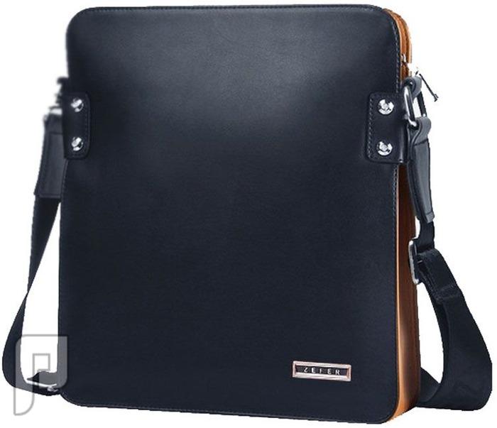 مجموعه من الحقائب والمحافظ الرجالية المتميزة حقيبة رجالية للأعمال مصنوعة من الجلد بحزام كتف