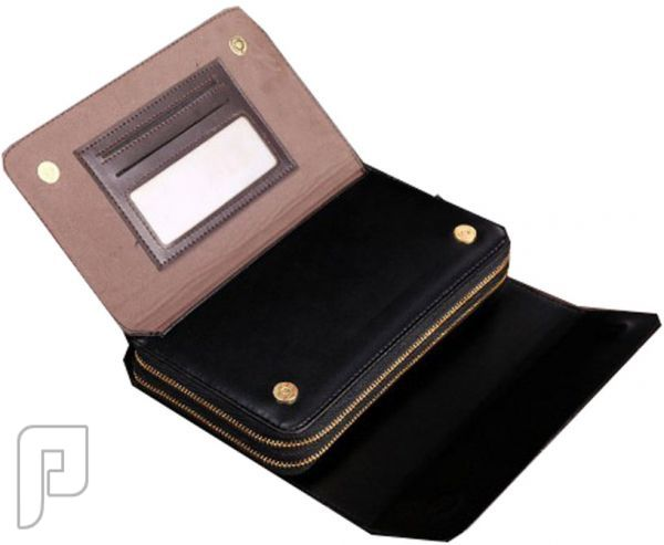 مجموعه من الحقائب والمحافظ الرجالية المتميزة محفظة رجالية لليد ذات لون أسود ماركة سانتاجولف