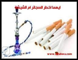 الشيشة والسجائر ايهما أكثر ضررا؟