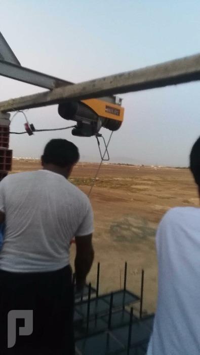 ونش كهرباء طن لرفع مواد البناء