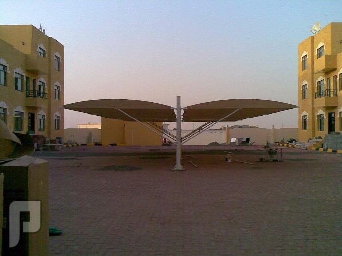 مظلات سيارات مظله سياره مظلات مصنع الاقطاب الذهبية للجميع المظلات مظلات الهلال جنبين