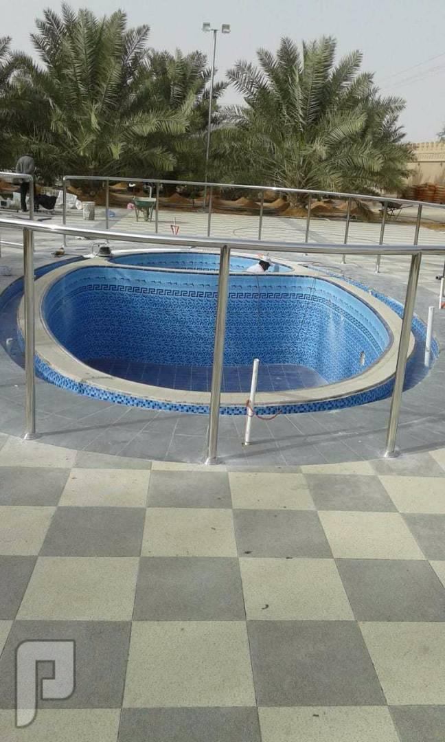 انشاء وتمديد برك السباحة والبخار والساونا والاجهزه الرياضية
