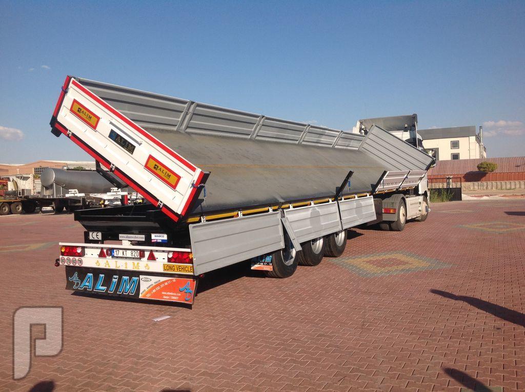 العربات نصف المقطورة شاحنة قلابة