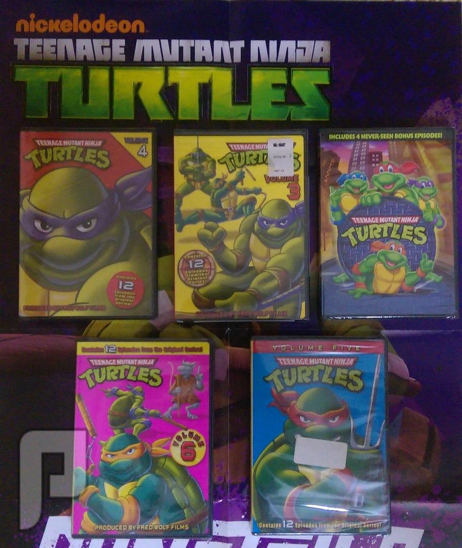 منتجات سلاحف النينجا للبيع - toys - dvd - puzzle جديدة بـ 100 ريال