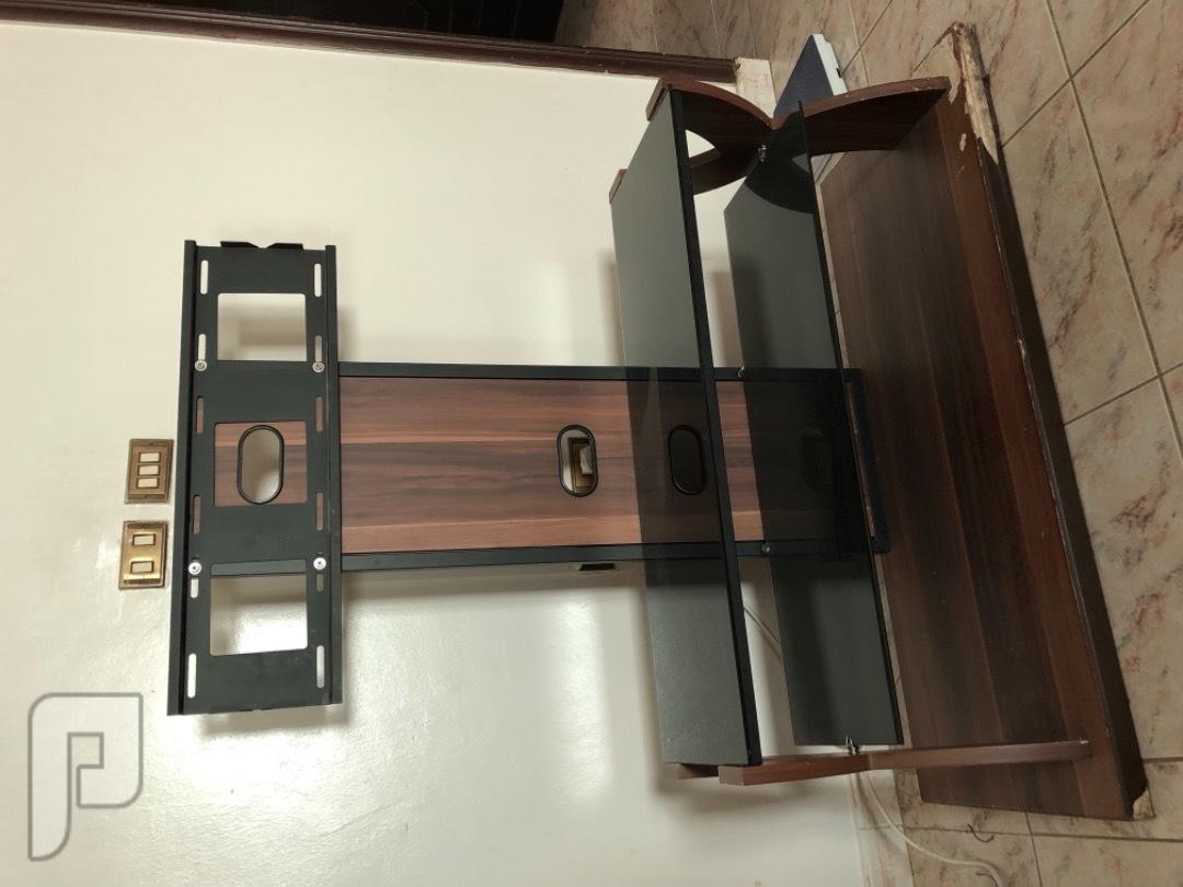 مكتبة تلفزيون خشب مع زجاج نظيفة مع حامل للشاشة للبيع
