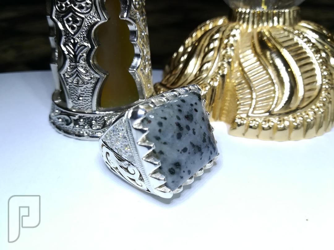 خاتم ملكي فاخر بحجر المررراد الإفريقي