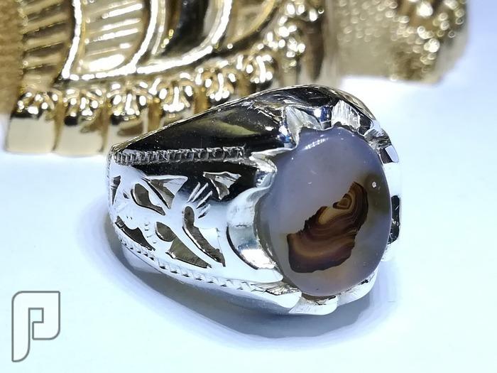 خاتم عقيق يماني مصور (الفارس الملثم)