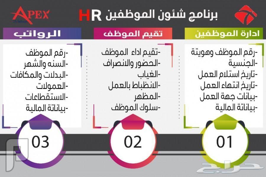 برنامج شئون الموظفين APEX HR