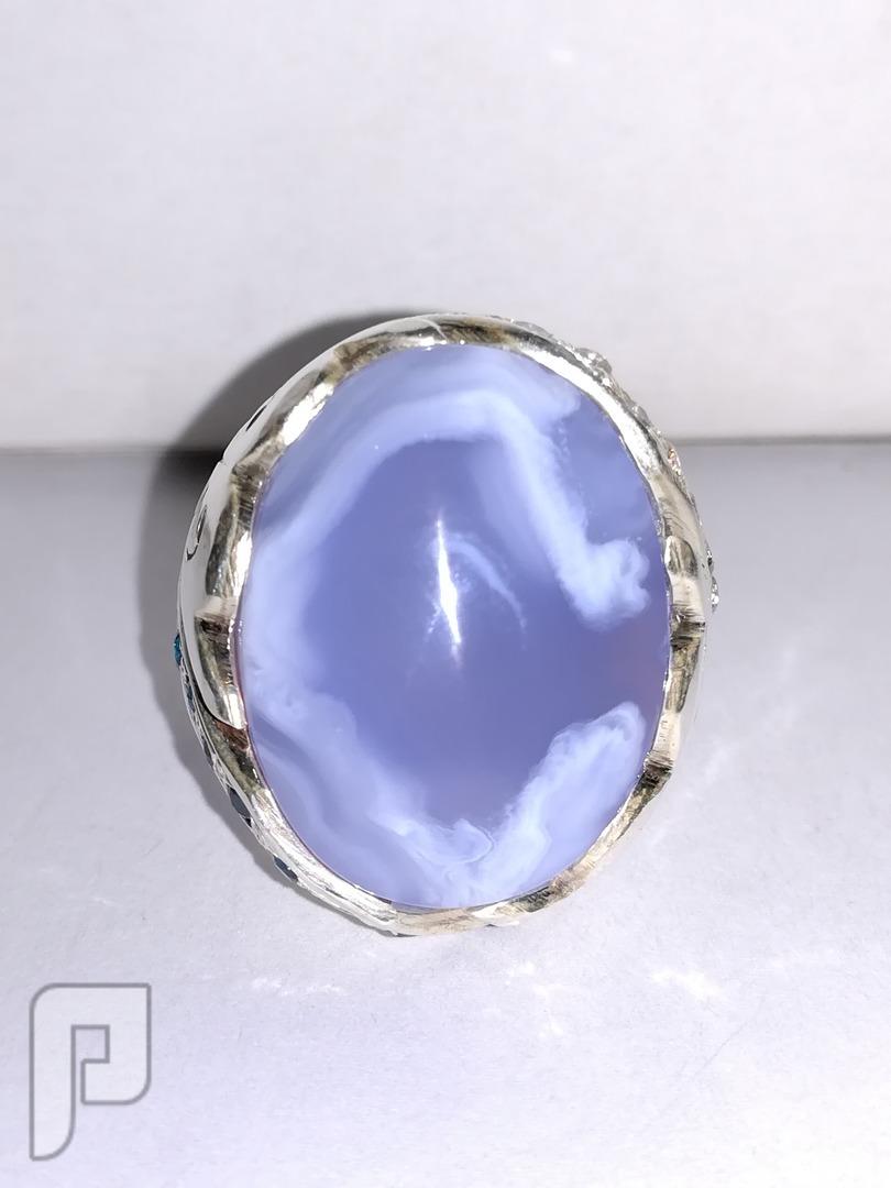 خاتم ملكي vip عقيق يماني طبيعي لون نادر