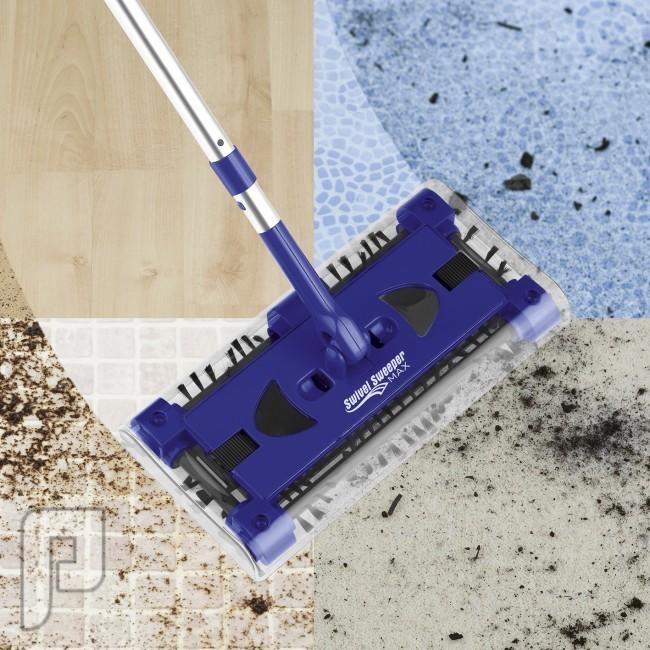 المكنسة اللاسكلية Swivel sweeper تعمل بالشحن لتستخدمها بأي مكان
