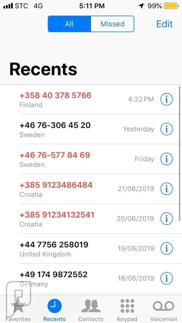 ما الذي يسعى له الشخص / الجهة من خلال الاتصال بك من أرقام دولية مجهولة