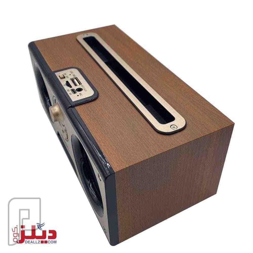 مشغل صوتيات بلوتوث كلاسيكي تصميم خشبي