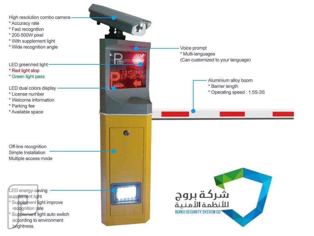 جهاز ونظام  قراءة أرقام لوحات المركبات آلياً لمواقف السيارات