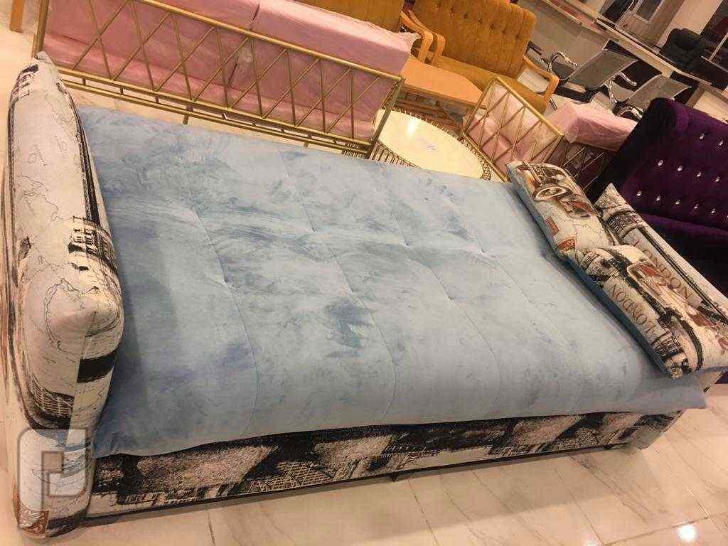 كنب جديد يفتح ويصبح سرير خامة ممتازة وجودة عالية