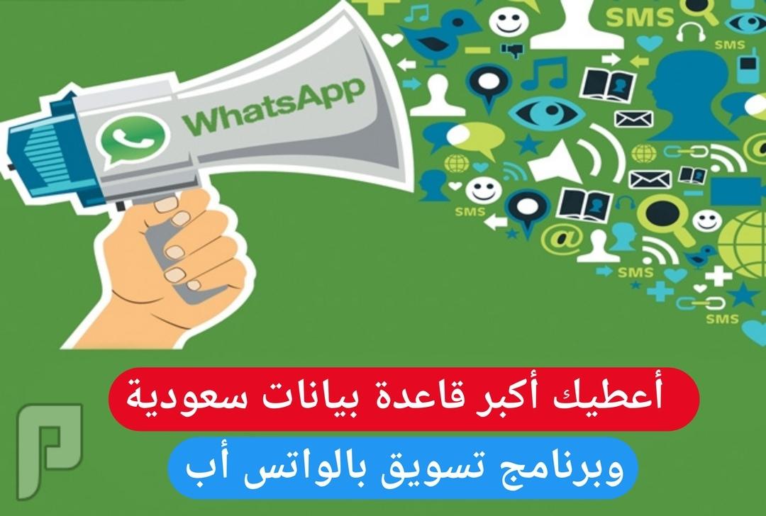 أكبر قاعدة بيانات سعودية وبرنامج تسويق واتس أب
