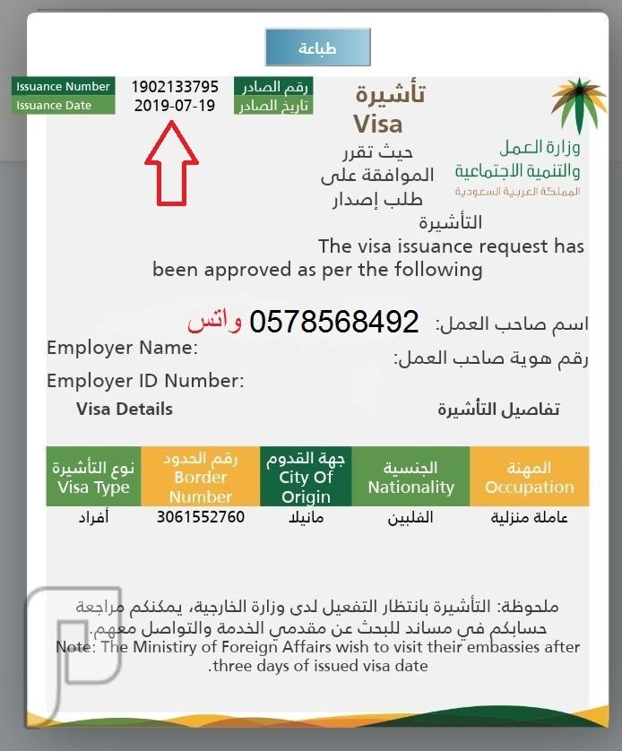 استخراج تأشيرات انجاز فوري وسعر منافس
