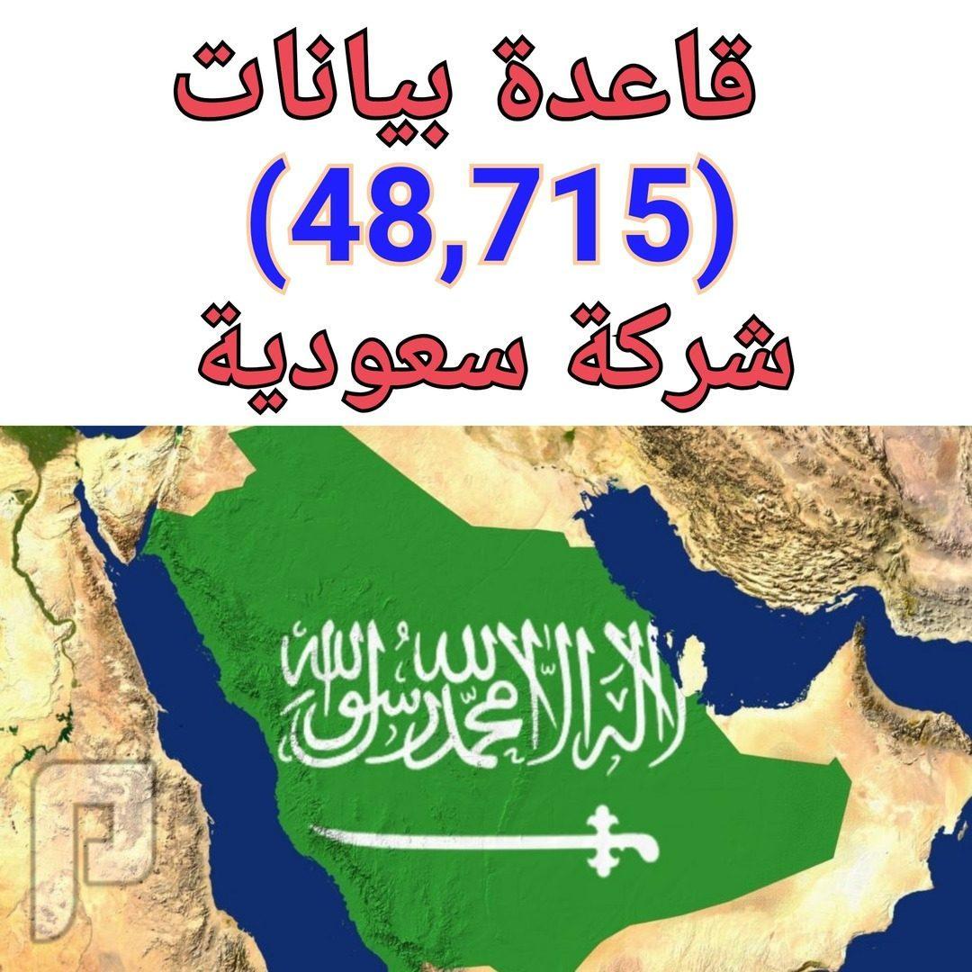 قاعدة بيانات ( 48,715 ) شركة سعودية