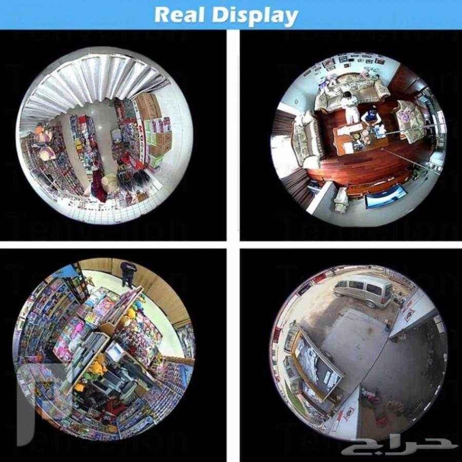 كاميرا مراقبه اللمبه 360 درجه للشركات والمنازل والابواب الخارجيه