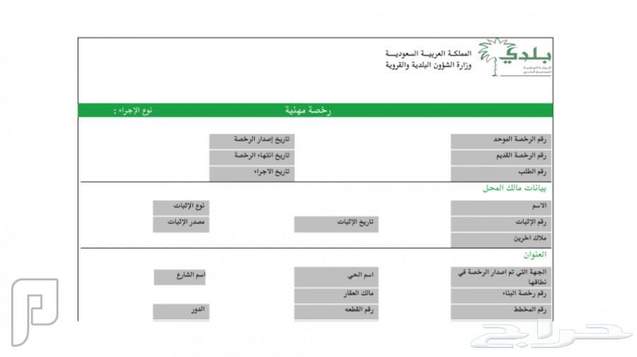 تجديد الاقامة للمهن الذي تجتاج تسجيل الهيئة .. واصدار رخص بلدية